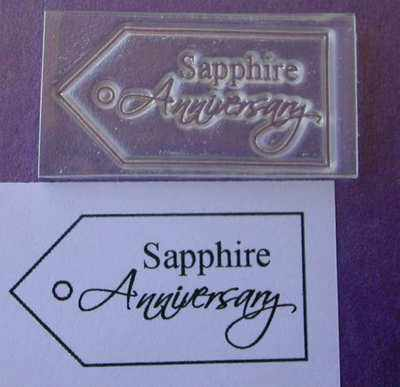 Tag, Sapphire Anniversary