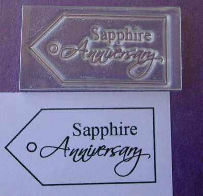 Tag, Sapphire Anniversary