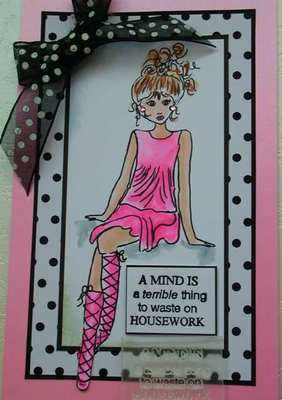 A Mind is a terrible thing to waste on Housework, stamp