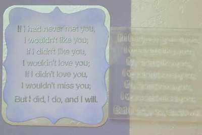 I'll miss you, verse
