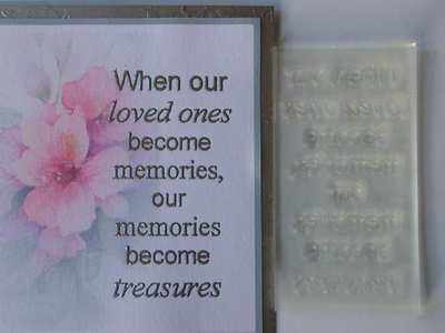 Verse, Memories become Treasures