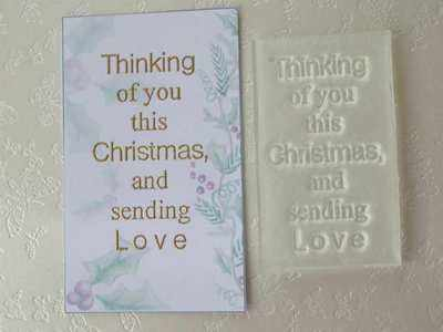 Thinking of you this Christmas, and sending Love rubber stamp