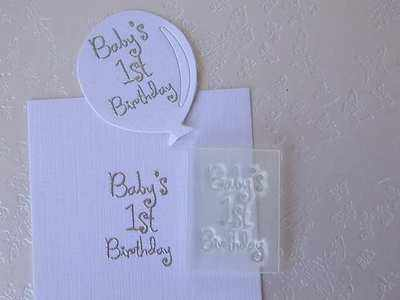 Baby's 1st Birthday, stamp