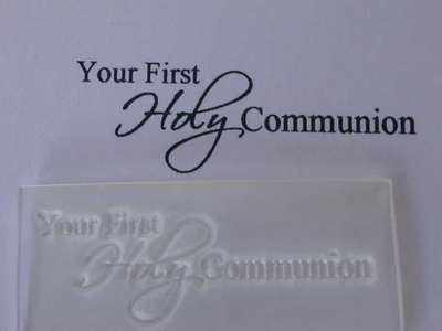 Your First Holy Communion, script