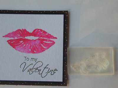 To my Valentine little script stamp