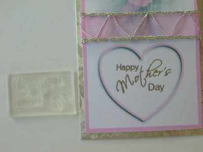 Happy Mother's Day, small script stamp