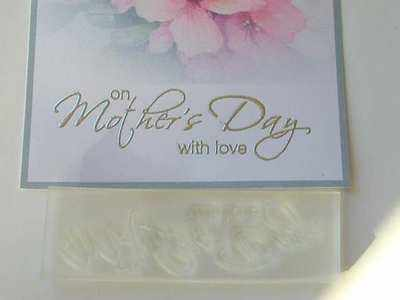 On Mother's Day with love, script