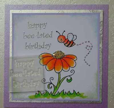 Happy Bee-lated Birthday