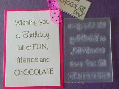 Birthday verse, Fun, friends & Chocolate