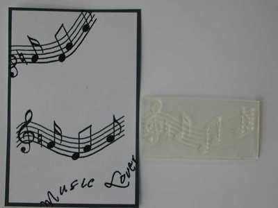 Music Score stamp
