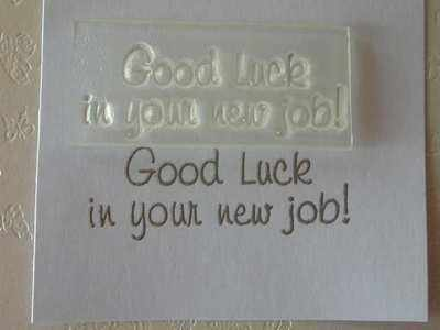 Good Luck in your new job!