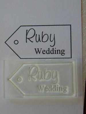 Tag, Ruby Wedding