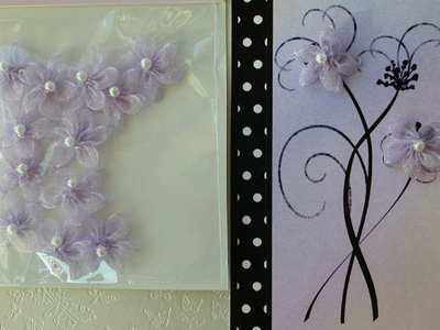 Lilac organza beaded flowers, 12