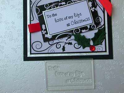 To the love of my life at Christmas, framed