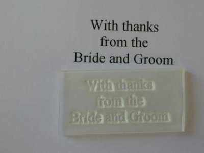 With thanks from the Bride and Groom