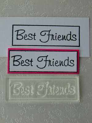Best Friends, framed text