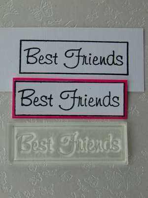 Best Friends, framed text