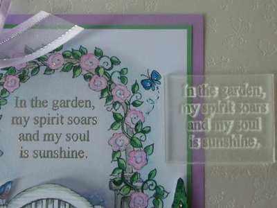 In the garden, verse