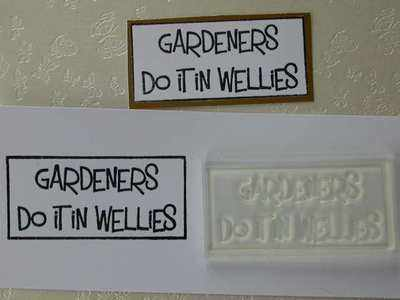Gardeners do it in Wellies, stamp