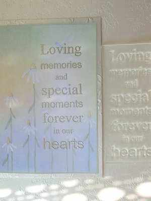 Loving Memories, verse stamp