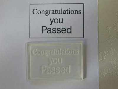 Congratulations you passed, stamp