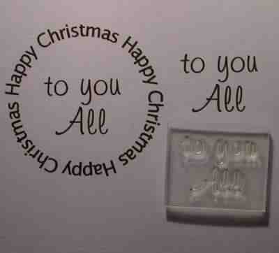 To you All, Little Words stamp