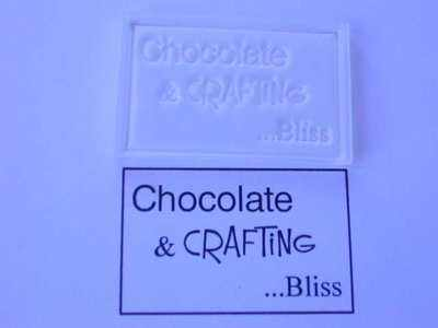 Chocolate & Crafting... Bliss, framed stamp