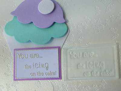You are... the icing on the cake! framed stamp