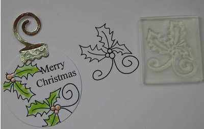 Little Holly Swirl stamp
