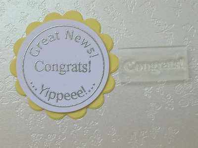 Congrats! Little Words stamp