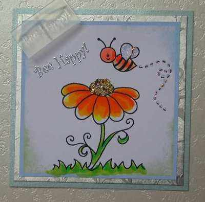 Bee Happy! stamp
