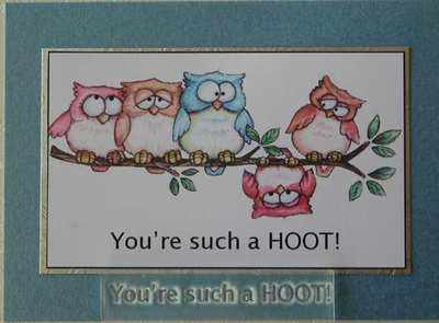You're such a HOOT! text rubber stamp