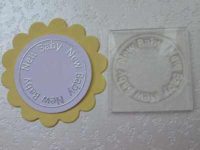 New Baby, circle stamp