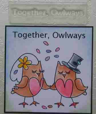 Together Owlways, stamp