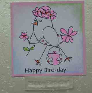 Happy Bird-day!  stamp