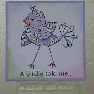 A birdie told me... stamp