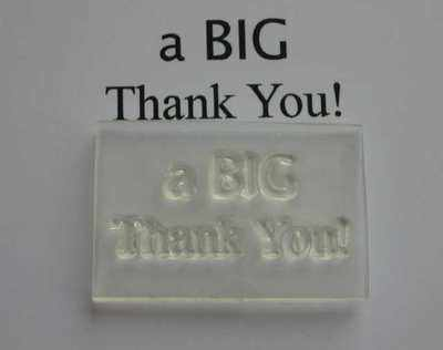 a BIG Thank You! stamp