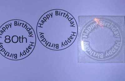 Happy Birthday 2, circle stamp