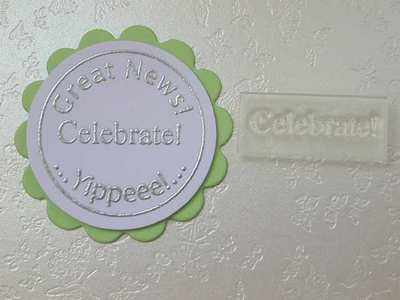 Celebrate! Little Words stamp