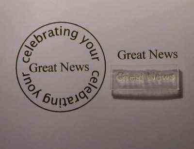 Great News, Little Words stamp