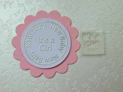It's a Girl, Little Words stamp