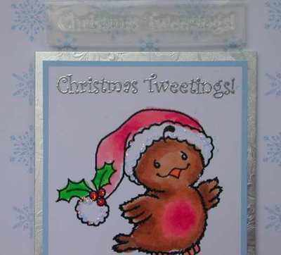 Christmas Tweetings, stamp