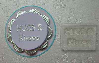 Hugs & Kisses, Little Words stamp