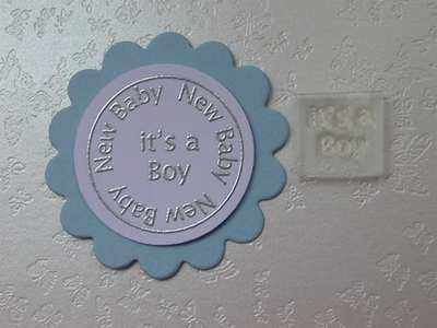 It's a Boy, Little Words stamp