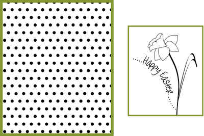 Easter Flower Digital stamp topper
