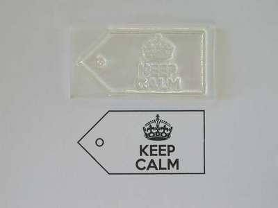 Keep Calm, tag stamp