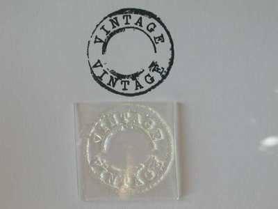 Vintage, grunge circle stamp
