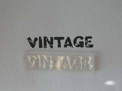Vintage stamp, grunge text
