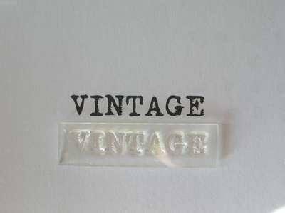 Vintage stamp, typewriter font