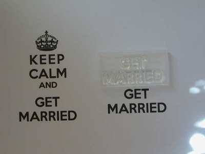 Get Married, for Keep Calm and, stamp